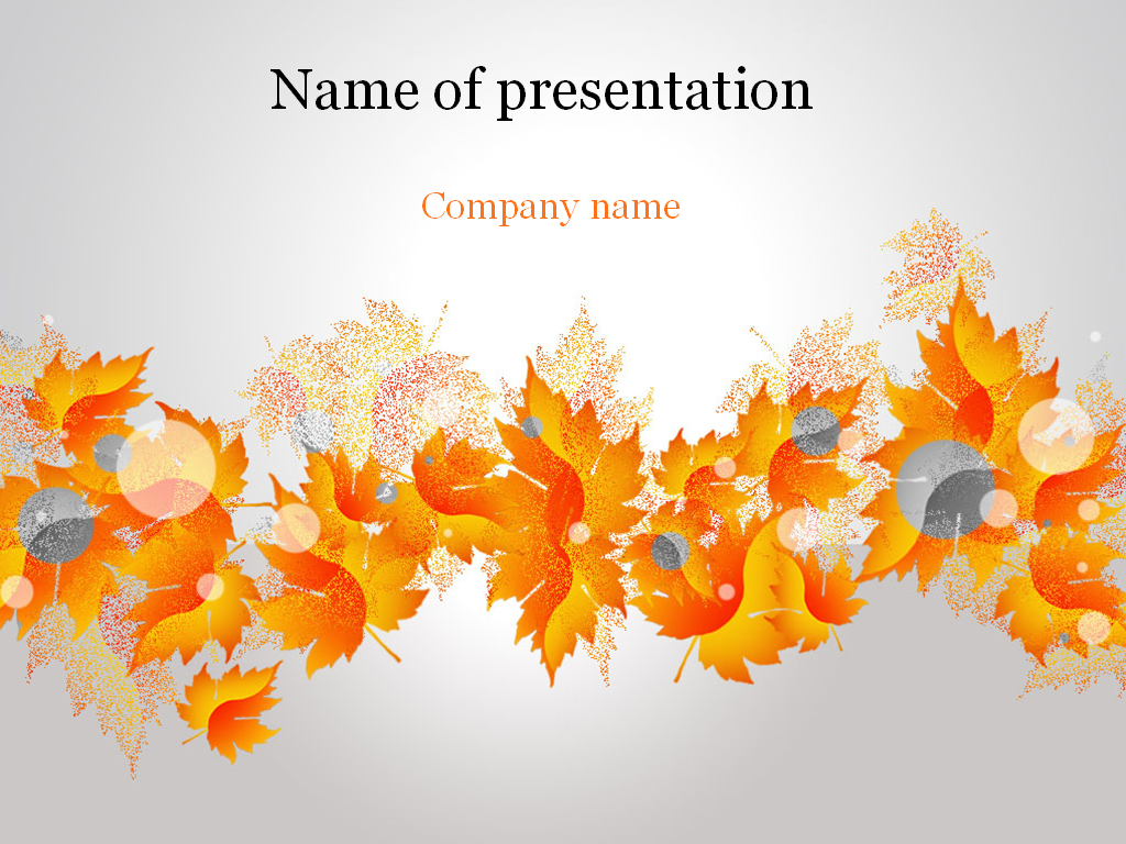 autumn powerpoint template & background for presentation, Modern powerpoint