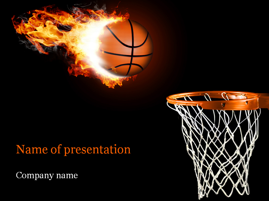 Basketball PowerPoint Template & Background for Presentation
