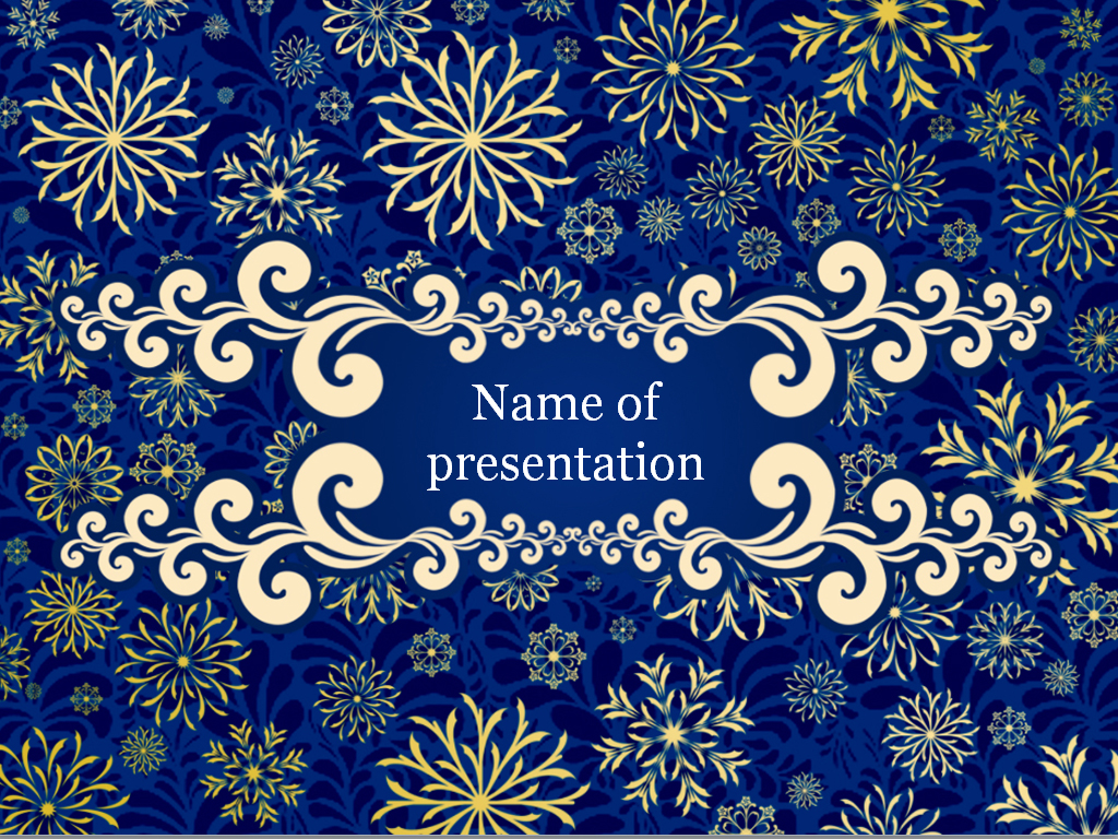 Blue Winter PowerPoint Template & Background for Presentation