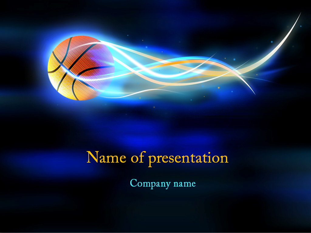 basketball ball powerpoint template  background for presentation free, Powerpoint