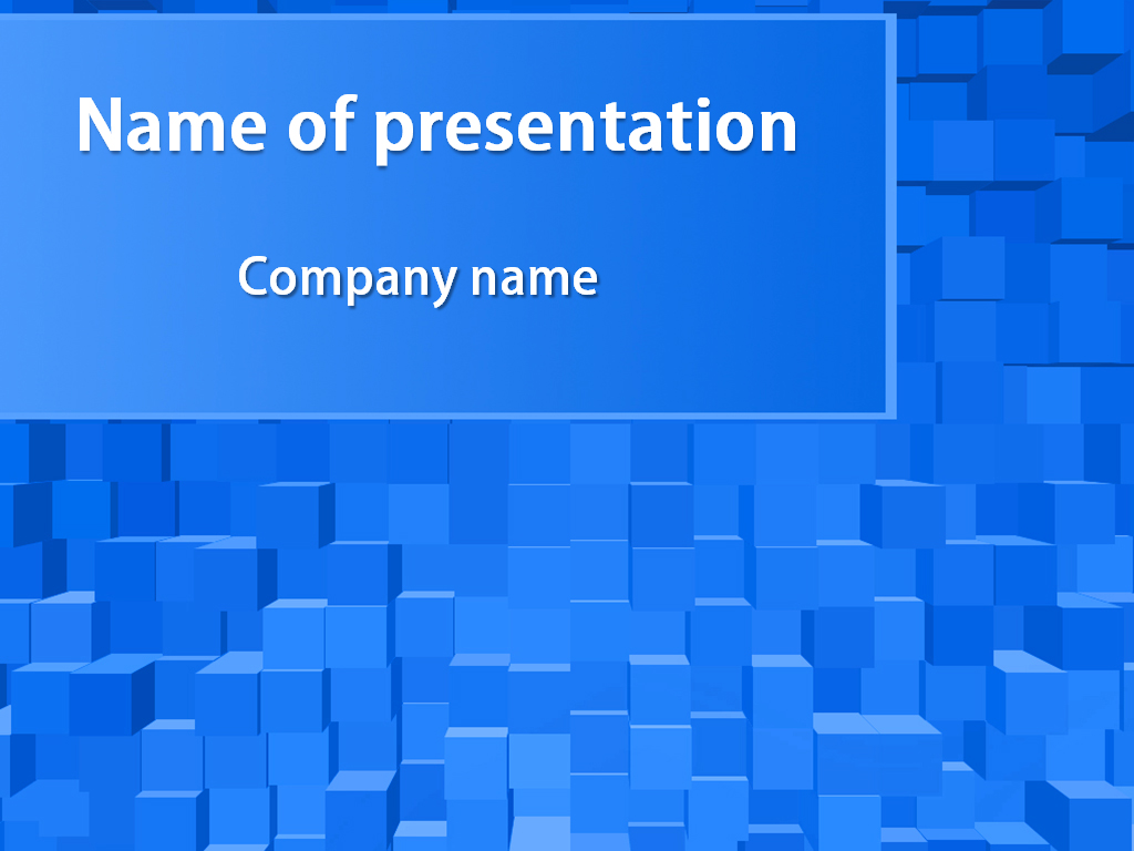 blue square powerpoint template background for presentation free