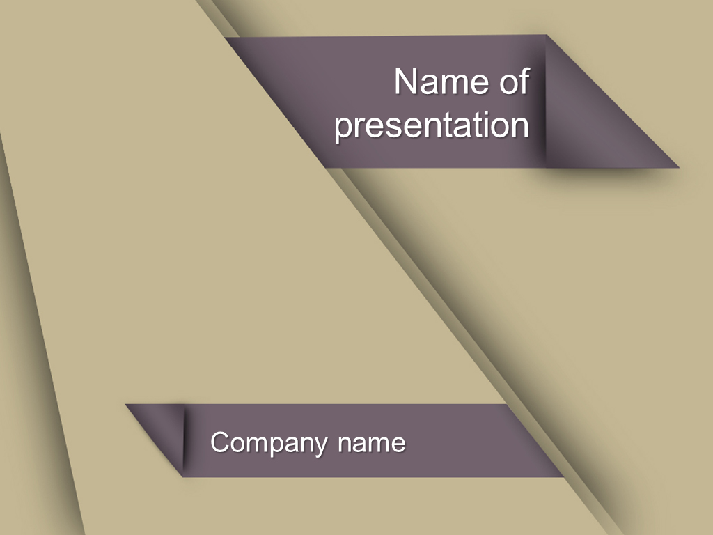 khaki color powerpoint template background for presentation free