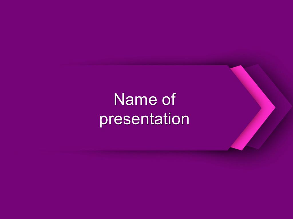 Purple arrow powerpoint template background for presentation free toneelgroepblik Gallery