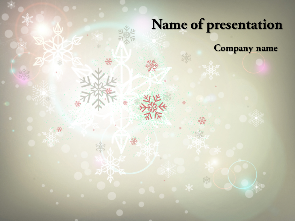Free Winter PowerPoint Template & Background for Presentation Free