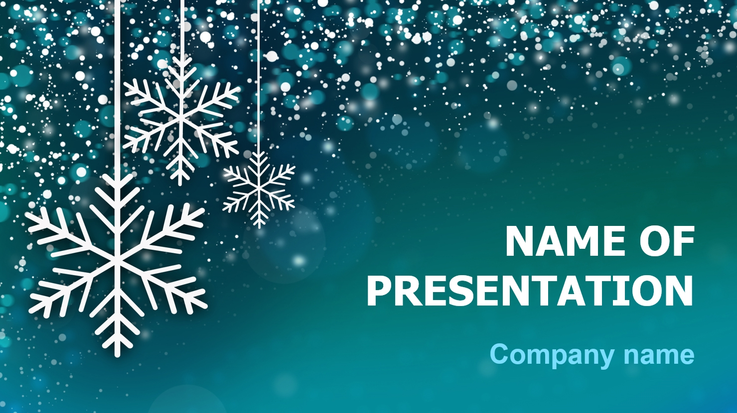 Free Winter Powerpoint Template Background For Presentation Free