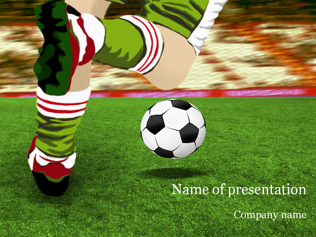soccer game powerpoint template & background for presentation, Modern powerpoint