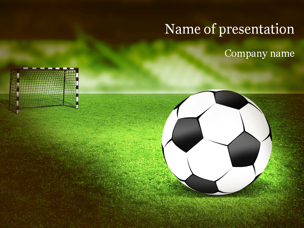 Soccer PowerPoint Template & Background for Presentation