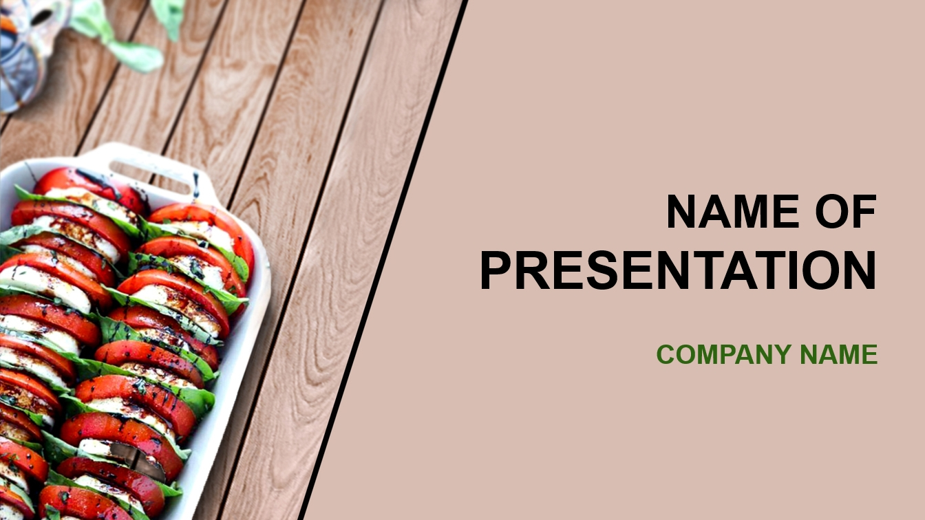 healthy food powerpoint template image collections - templates, Modern powerpoint