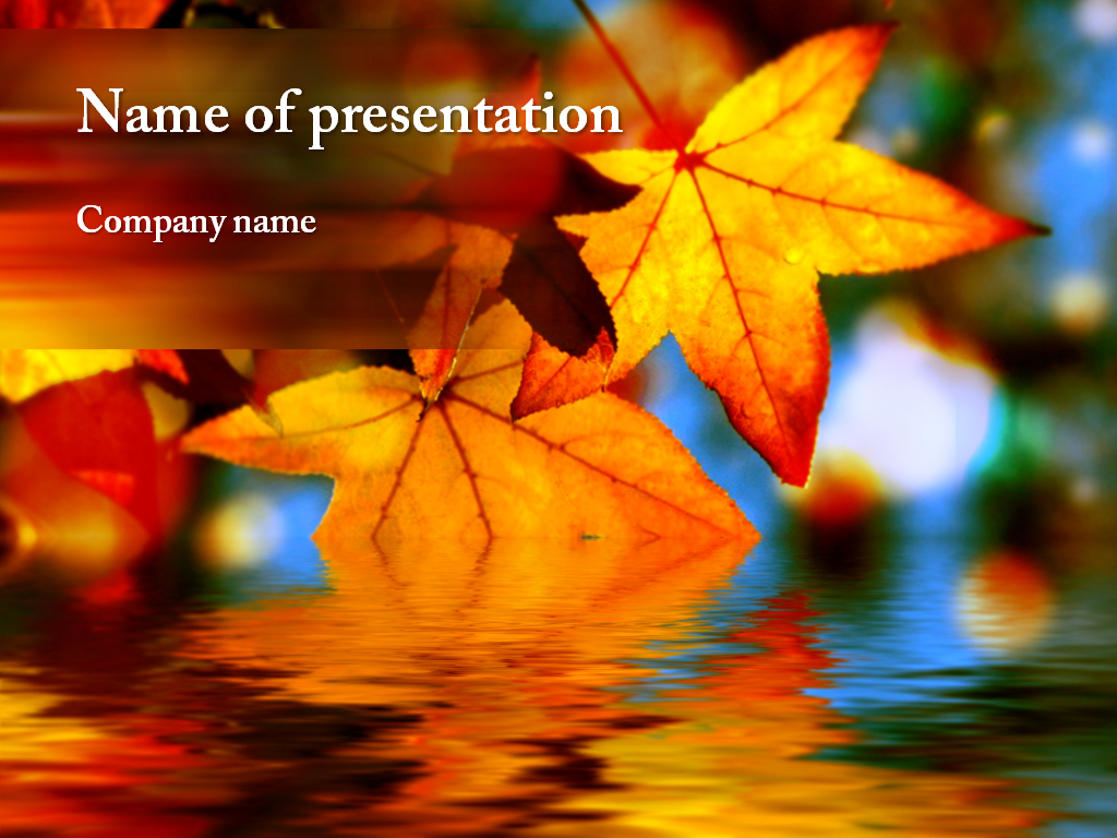 Autumn leaves powerpoint template