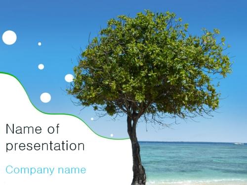 Beach Tree powerpoint template