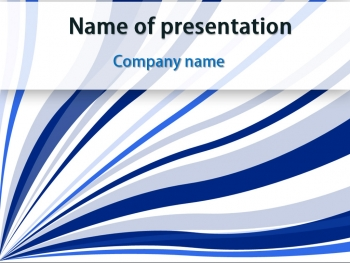 Blue Strings powerpoint template