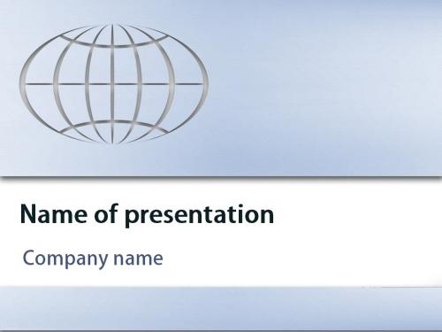 Earth Globe powerpoint template
