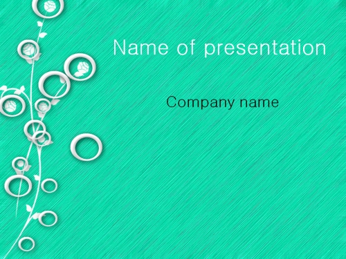 White Circles powerpoint template