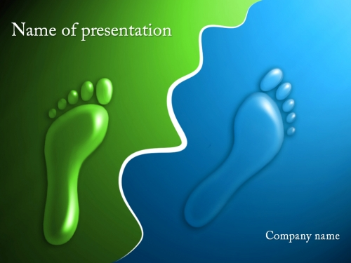 Footprints powerpoint template