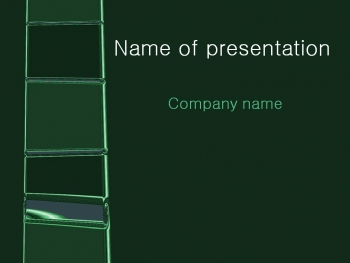 Green Ladder powerpoint template