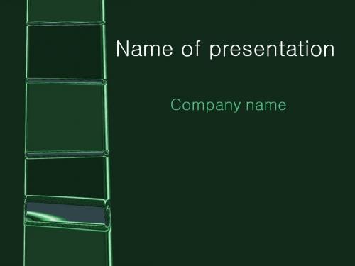 Green Ladder powerpoint template