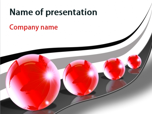 Red Bubbles powerpoint template