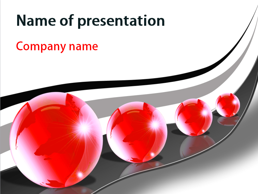 Free Red Bubbles PowerPoint template presentation