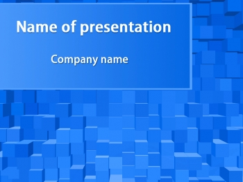 Blue Cubes powerpoint template