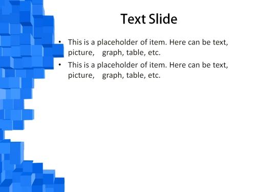 Blue Cubes powerpoint template