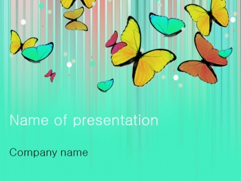 Colourful Butterfly powerpoint template