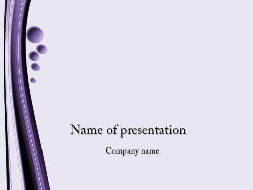 Violet Bubbles powerpoint template
