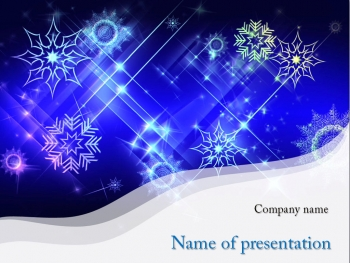 White Snowflakes powerpoint template