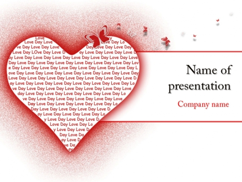 Love Heart powerpoint template