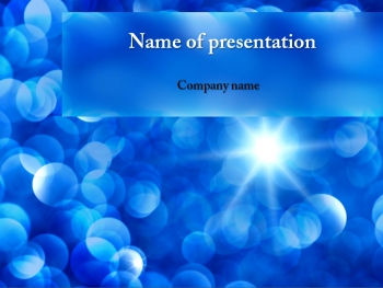 Blue Sunbeams powerpoint template