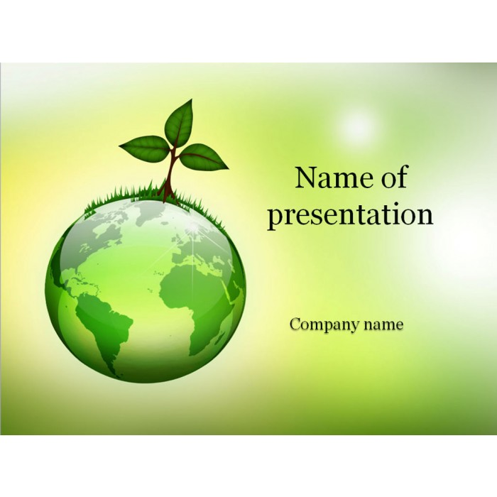 Eco world powerpoint template