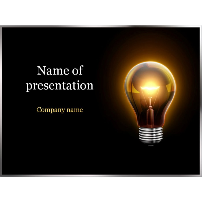 Electric light powerpoint template