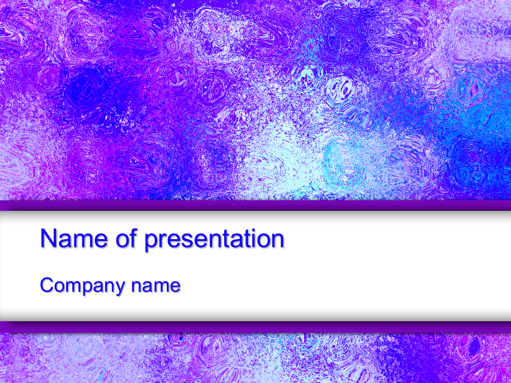 Free Violet glass powerpoint template presentation...