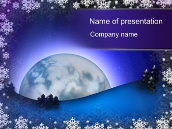 Winter Night powerpoint template
