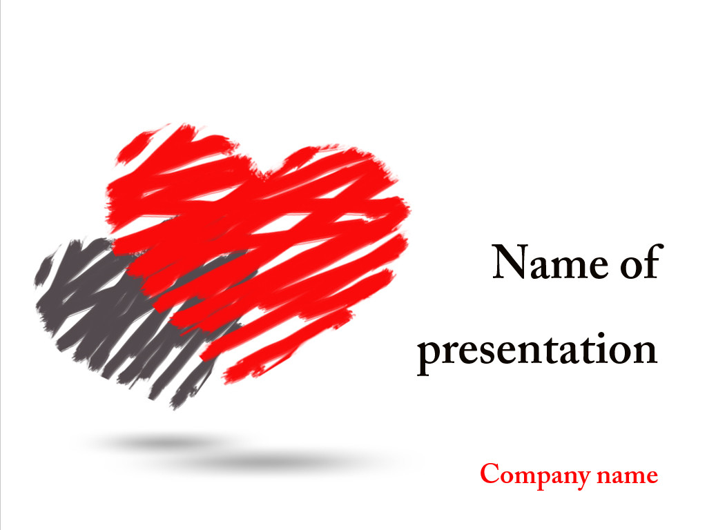 Free Two hearts powerpoint template presentation