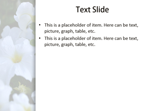 Awesome Flowers powerpoint template