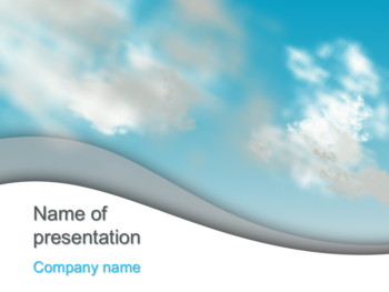 Floating Clouds powerpoint template