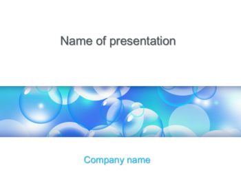 Flying Bubbles powerpoint template