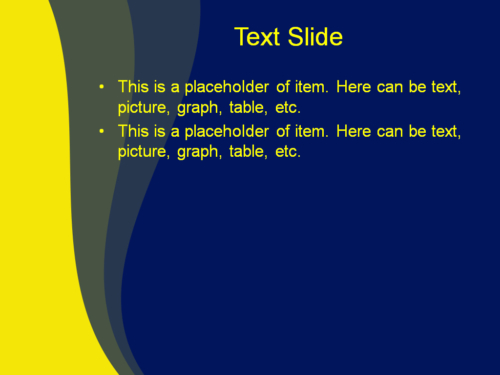 Yellow Blue Mix powerpoint template