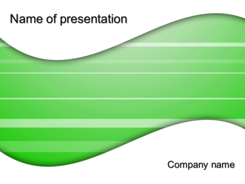 Green Ripple powerpoint template