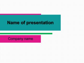 Green Bar PowerPoint template