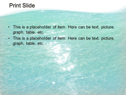 Great Ocean powerpoint template