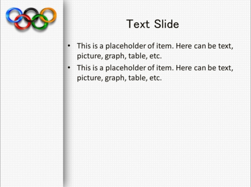 Olympic Spirit powerpoint template