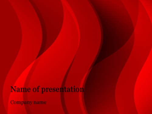 Red Stream powerpoint template