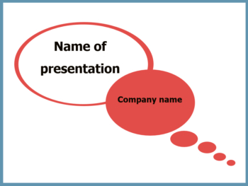 Talk Bubble powerpoint template