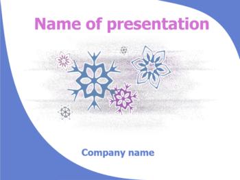 Flowers in Winter powerpoint template