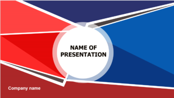 Red Blue powerpoint template