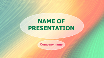 Blanky Rainbow PowerPoint template