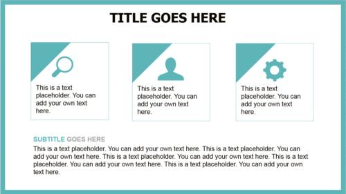 Blanky Rainbow PowerPoint template