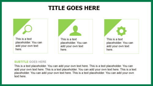 Conifer Needles PowerPoint template