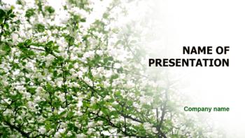 Wonderful Flowering powerpoint template